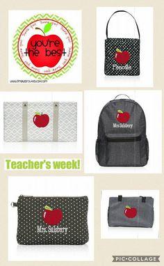 Great Thirty-One gift ideas for Teacher Appreciation Week! www.mythirtyone.com/vgoodwin