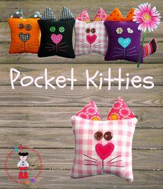 PDF SOFTIE PATTERN - Pocket Kitties - by RedBoots on madeit