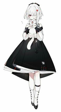 Anime Chibi, Anime Oc, Female Character Design, Character Design Inspiration, Character Art, Kawaii Anime Girl, Anime Art Girl, Anime Girl Dress, Anime Girls