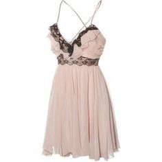 rose dress with black lace