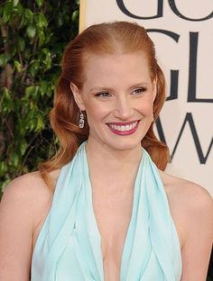 Retro glamour for Jessica Chastain