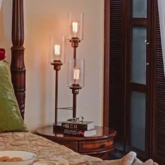 Old World Charm Table Lamp Interior Styling, Interior Decorating, Interior Design, Edison Bulbs, Luxury Lighting, Night Lamps, Hanging Lights, Light Decorations, Rustic Decor