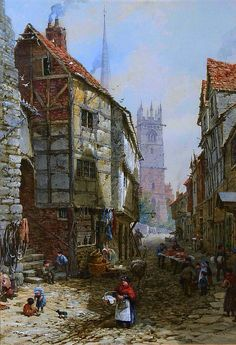 Market Day In Olde Dickensian England