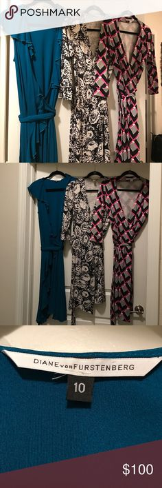 Bundle of 3DVF size 10 dresses preowned ex. Cond. This bundle is reserved for dmartinez15 please do not purchase! Diane von Furstenberg Dresses Midi