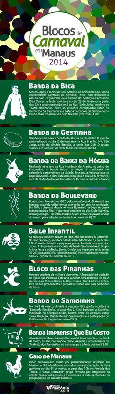 Blocos de Carnaval de Manaus em 2014 Arte: Victor Gabriel/Portal Amazônia