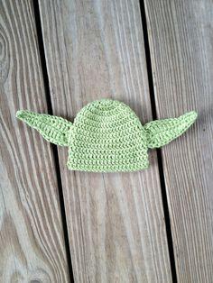 PDF Yoda Earflap Hat Crochet Pattern Newborn to Adult  by BizeeB, $3.50