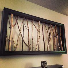 ce tableau original est compos de branches de bouleau trouv es dans la for t ces branches sont. Black Bedroom Furniture Sets. Home Design Ideas