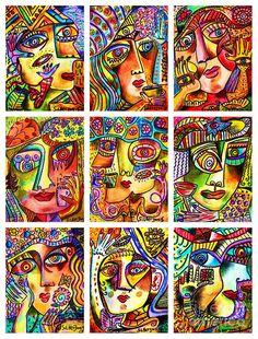 Goddess Painting - -parisian Cafe Ladies by Sandra Silberzweig
