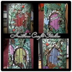 DISPLAY ITEM... Fairy Door, Polymer Clay Journal // Notebook // Made to Order, Nature, Forest, Fairy, Faerie Door, Handmade, unusual gifts.