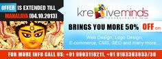 50% off on all Web Design, Logo Design, Ecommerce, CMS & SEO