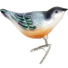 Nuthatch Glass Ornament