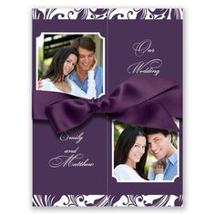 Fabulous Photo - Plum - Invitation i love this invation is simple and the color is just right