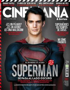 The main coverline is at the bottom in this photo, rather than at the top or in the middle like in the other covers I've seen. The main image is centered, and depicts a strong presence (as Superman would), and the use of colors plays off the image itself as well.