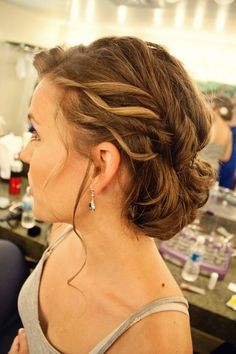My wedding hair #updo.
