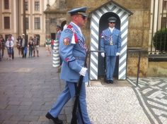 Guards at the palace in Prague, Czech Republic