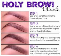 Younique brow liner and brow gel tutorial