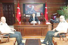 Sayın Valimiz Hasan Karahan, Jandarma Bölge Komutanlığına atanan Tuğgeneral Hakan Saraç'ı makamında kabul etti.…