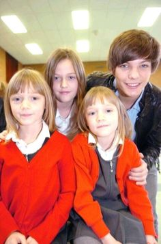 Louis and his sisters!  The twins