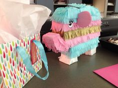 Perfect for gender reveal parties or Baby Showers!!!  Tiny Elephant Pinata Perfect for gifts or by RockinSugarSkull
