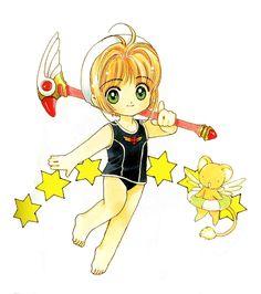 First appearance: Back cover of Cardcaptor Sakura (KCDX) Vol. Chibi, Card Captor, Cardcaptor Sakura, Magical Girl, Doujinshi, Anime Manga, Kawaii, Animation, Fan Art