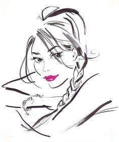 Artists, Bissett Illustration, Jacqueline Bissett, Fashion Illustration