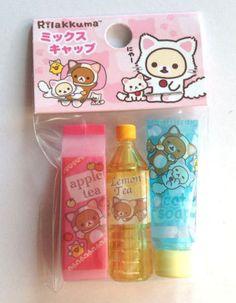 Kawaii-SAN-X-FANCY-PENCIlL-CAPS-collectible-stationery-Rilakkuma-party-bag-XMAS