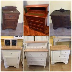 Three very different antique furniture, which we use with the same color and the same . Refurbished Dressers, Furniture Diy, Furniture Flipping Business, Diy Furniture, Furniture, Before After Furniture, Upcycled Furniture Diy, Beautiful Furniture, Pine Bedroom Furniture
