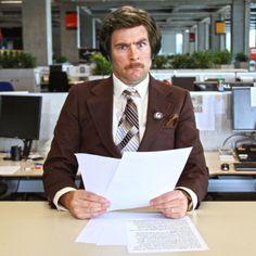 Steven Dunn as Ron Burgundy Movember Mustache, Ron Burgundy, Male Face, Canada, Community, Male Faces