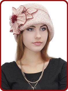 Шляпка Элина - Женские шапки - Из кашемира
