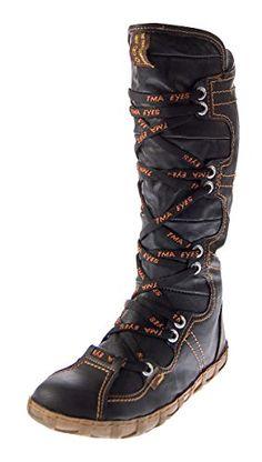 TMA Leder Stiefel Damen Schuhe gefüttert Winter Lederstiefel Schwarz Gelb Blau Rot Grün Weiß Braun - http://on-line-kaufen.de/tma/tma-leder-stiefel-damen-schuhe-gefuettert-winter