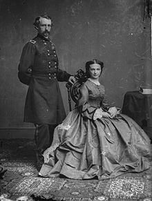 George and Elizabeth 'Libbie' Custer. After his death in 1876 at the hands of Indians, she kept his memory alive the rest of her life and made sure that he was remembered by the nation.