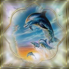 Blingee Dolphins | dolphins | my vintage pictures - miras46 | Pinterest