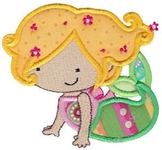 Magical Mermaids 1 Applique, SWAK Pack - 2 Sizes! | Featured Products | Machine Embroidery Designs | SWAKembroidery.com Bunnycup Embroidery