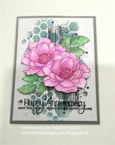 Artwork:Daksha Popat: Anniversary card using two of my favorite brands Altenew Cards, Stampin Up Cards, Altenew Beautiful Day Cards, Wedding Anniversary Cards, Wedding Cards, Happy Anniversary, Sympathy Cards, Greeting Cards, Cool Cards