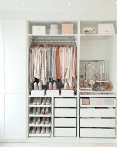 A round-up of the best closet makeovers using the IKEA Pax system with hacks to make it look custom and solutions for creating the most functional closet. Ikea Closet System, Ikea Pax Closet, Ikea Pax Wardrobe, Bedroom Wardrobe, Wardrobe Storage, Ikea Closet Storage, Best Closet Systems, Walk In Closet Ikea, Wardrobe Closet