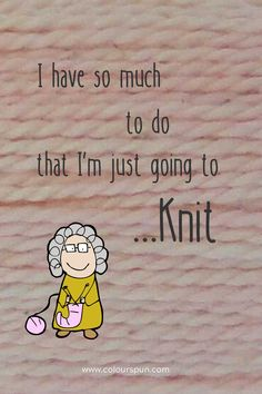 Relax and knit! Fabric Yarn, Just Go, Fabric Design, Weaving, Relax, Quilts, Stitch, Knitting, Full Stop