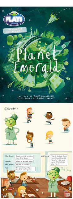 Planet Emerald, about a peculiar out of this world teacher #illustration #childrensbooks #picturebooks #bookcovers www.nbillustration.co.uk/emma-yarlett www.nbillustration.co.uk