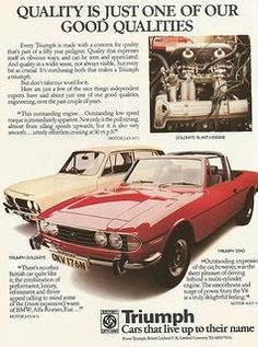Dolomite & Stag.  My two favourite Triumph cars.