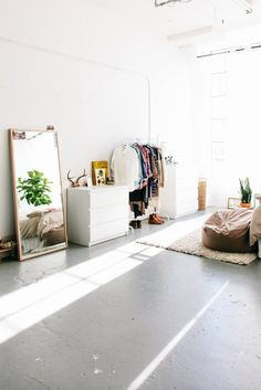 House Tour: A Sunny and Minimal One-Room East Bay Loft | Apartment Therapy