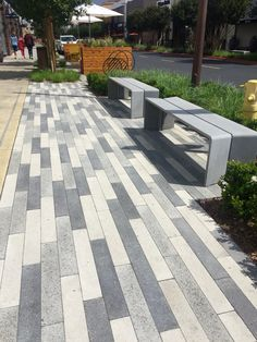 Our linear pavers look amazing at Victoria Gardens. #pavers #linearpavers #ackerstone #ackestonepavers #ranchocucamongoca #victoriagardens
