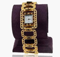 '(W) Smokey Topaz Rhinestone Link Watch' is going up for auction at  4pm Fri, Nov 23 with a starting bid of $7.