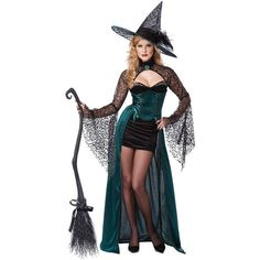 Adult Enchantress Sexy Costume ($75) ❤ liked on Polyvore featuring costumes, halloween costumes, multicolor, salem witch costume, sexy costumes, sexy witch costume, witch halloween costumes and sexy halloween costumes