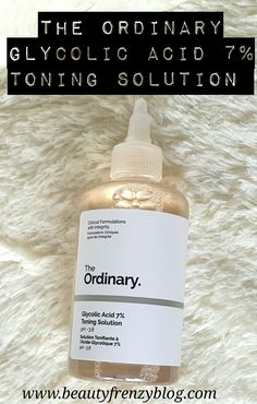 The Ordinary Glycolic Acid 7% Toning Solution Review: Click to read about this toner. #affordableglycolicacidtoner #theordinaryglycolicacidtoner #affordableglycolicacidtoner #theordinary #pixiglowtonicdupe