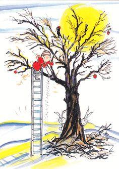 (Horton doing he spring chores) Baumgarten, April Easter, Illustrations, Whimsical Art, Troll, Christmas Cards, Spring, Drawings, Painting