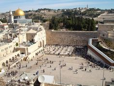 The Western Wall, Jerusalem - the holiest place for Jewish people (source: wiki)