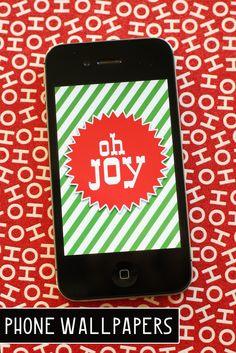 eighteen25: december's phone wallpapers - Christmas