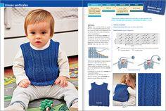 Chaleco de bebé tejido a dos agujas - Imagui