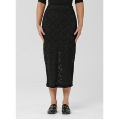 Mela Purdie Midi Skirt - Riviera Lace Longer than the Mid Double skirt , this tube skirt is practical and stylish with a good amount of coverage. Cut for a close fit, it features a comfortable elastic waist, balance yours with a loose knit or soft tailored shirt for a flattering silhouette.  #melapurdie    #redworks