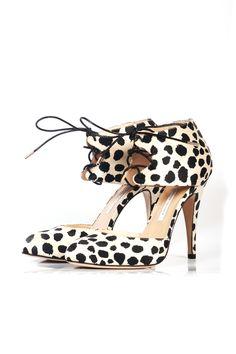 Bionda Castana molly leopard satin heels