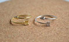 arrow ring in sterling silverarrow ringsilver by FlowerLovejj, $12.00